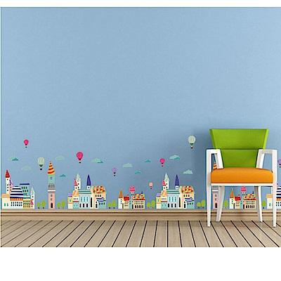 時尚壁貼-卡通彩色小屋