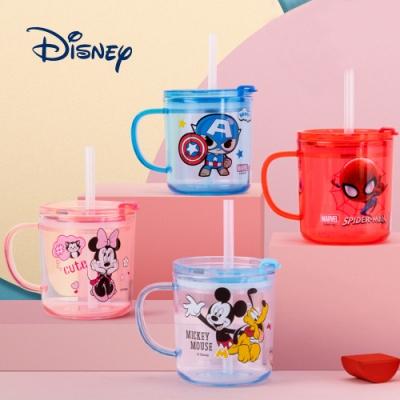 【優貝選】迪士尼卡通明星兒童用刻度牛奶杯/學習杯