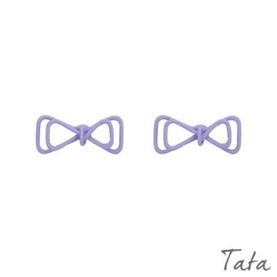 鏤空蝴蝶結造型耳環 共二色 TATA