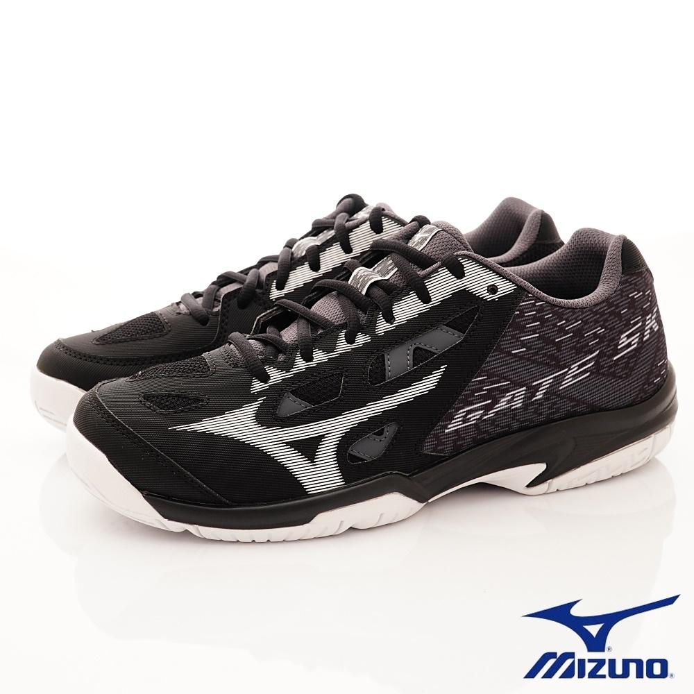 Mizuno美津濃  GATE SKY PLUS寬楦基本款羽球鞋204009黑(男段)