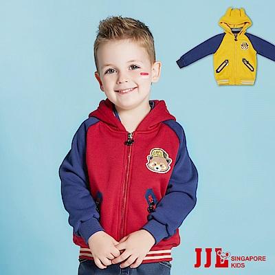 (宅配)JJLKIDS 小浣熊造型內刷毛連帽外套(2色)