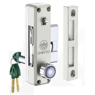 580 鋁門鉤鎖 青葉牌 1200型鋁門側門鎖(五面/心動鑰匙 鎖心長38mm)拉門鉤鎖