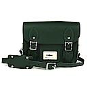 The Leather Satchel 英國手工牛皮劍橋包 肩背 後背包 郵差綠 8.5吋
