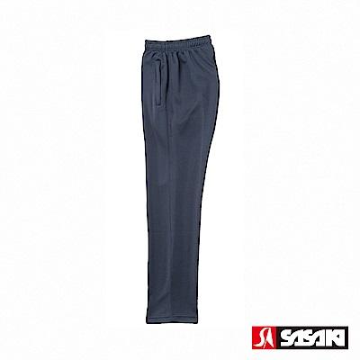 SASAKI 快速排汗伸縮功能針織運動長褲-男-丈青