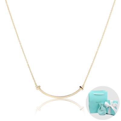 Tiffany&Co. T系列 微笑Smile 經典金色項鍊