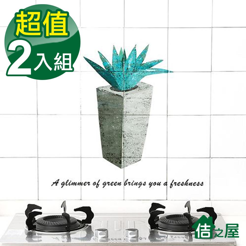 [買一送一]佶之屋 透明 廚房DIY自黏防油壁貼 60x90cm