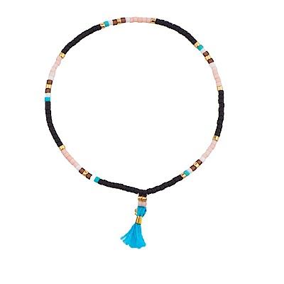 SHASHI Lily Navajo Black 微顆粒珠珠 流蘇手鍊 土耳其藍 彈性手圍