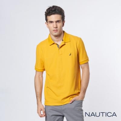 Nautica 機能型經典吸濕排汗短袖POLO衫-黃