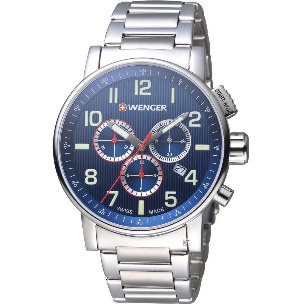 WENGER Attitude 鋼鐵英雄計時腕錶(01.0343.106)42mm