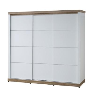 【AT HOME】北歐鄉村7*7尺雙色推門衣櫃(愛琴海)