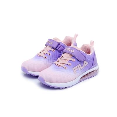 FILA KIDS 大童氣墊籃球鞋-紫/粉 3-J810V-955
