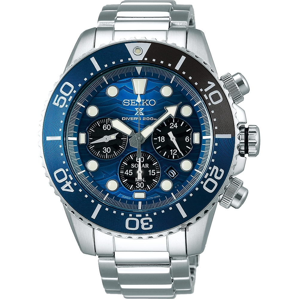 SEIKO 精工 PROSPEX 愛海洋 特別版大白鯊太陽能計時錶(SSC741P1)