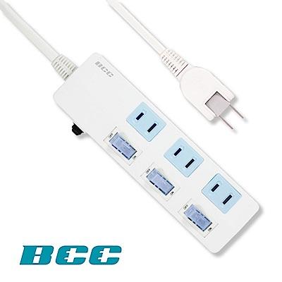 BCC FC123 3切3插延長線