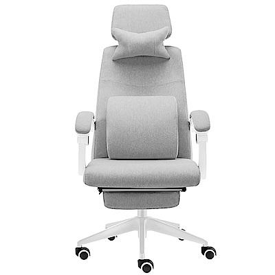 【STYLE 格調】亞麻布高背立體透氣主管椅/辦公椅(升級置腳台/耐重椅腳)