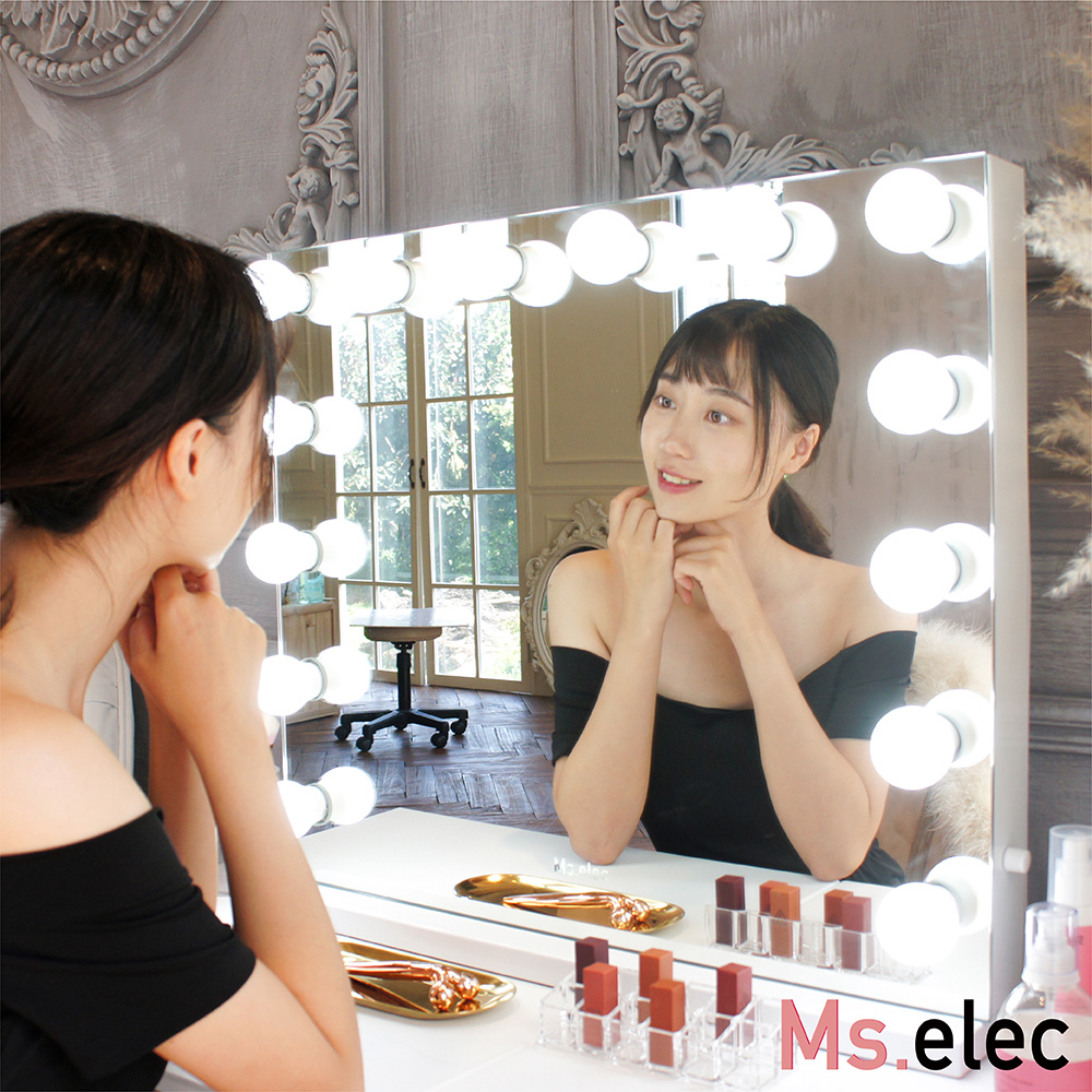 Ms.elec米嬉樂 奢華訂製燈泡化妝鏡 LED化妝鏡 電視鏡 燈泡鏡