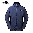 The North Face北面男款藍色保暖抓絨衣|366LH2G