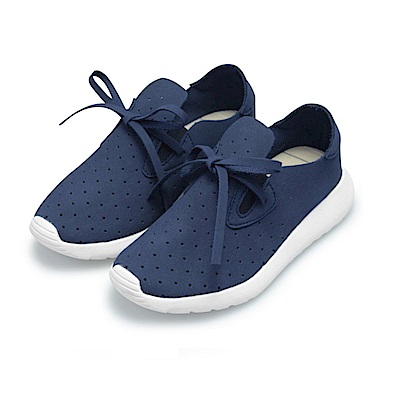 BuyGlasses 洞洞綁帶童款慢跑鞋-藍