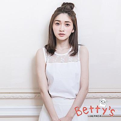 betty's貝蒂思 蕾絲簍空背心(白色)