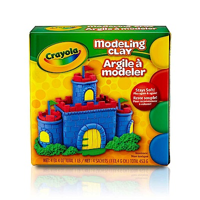 (一元加價購)美國Crayola 繪兒樂 造型黏土經典色4色(3Y+)