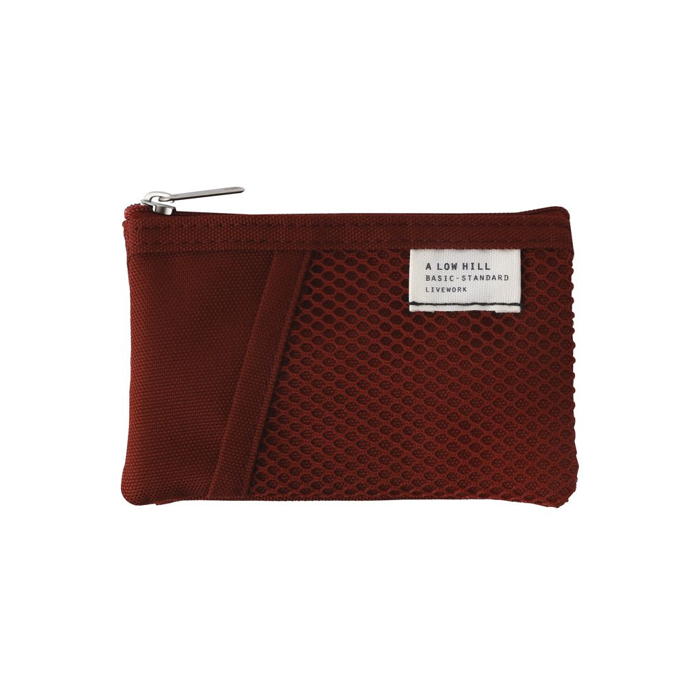 Livework 休閒風雙層對摺票卡零錢包V2-覆盆莓紅