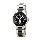 NBA 美國職籃 優雅陶瓷休閒女腕錶-黑/32mm