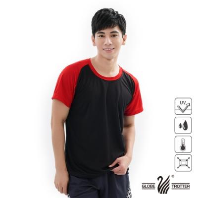 【遊遍天下】MIT中性款吸濕排汗抗UV機能圓領衫GS2001黑紅