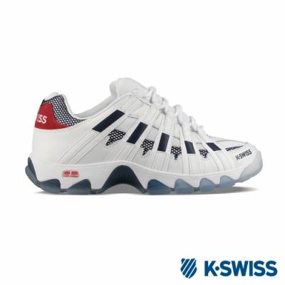 K-SWISS ST429 SB復古老爹鞋-男-白/藍/紅