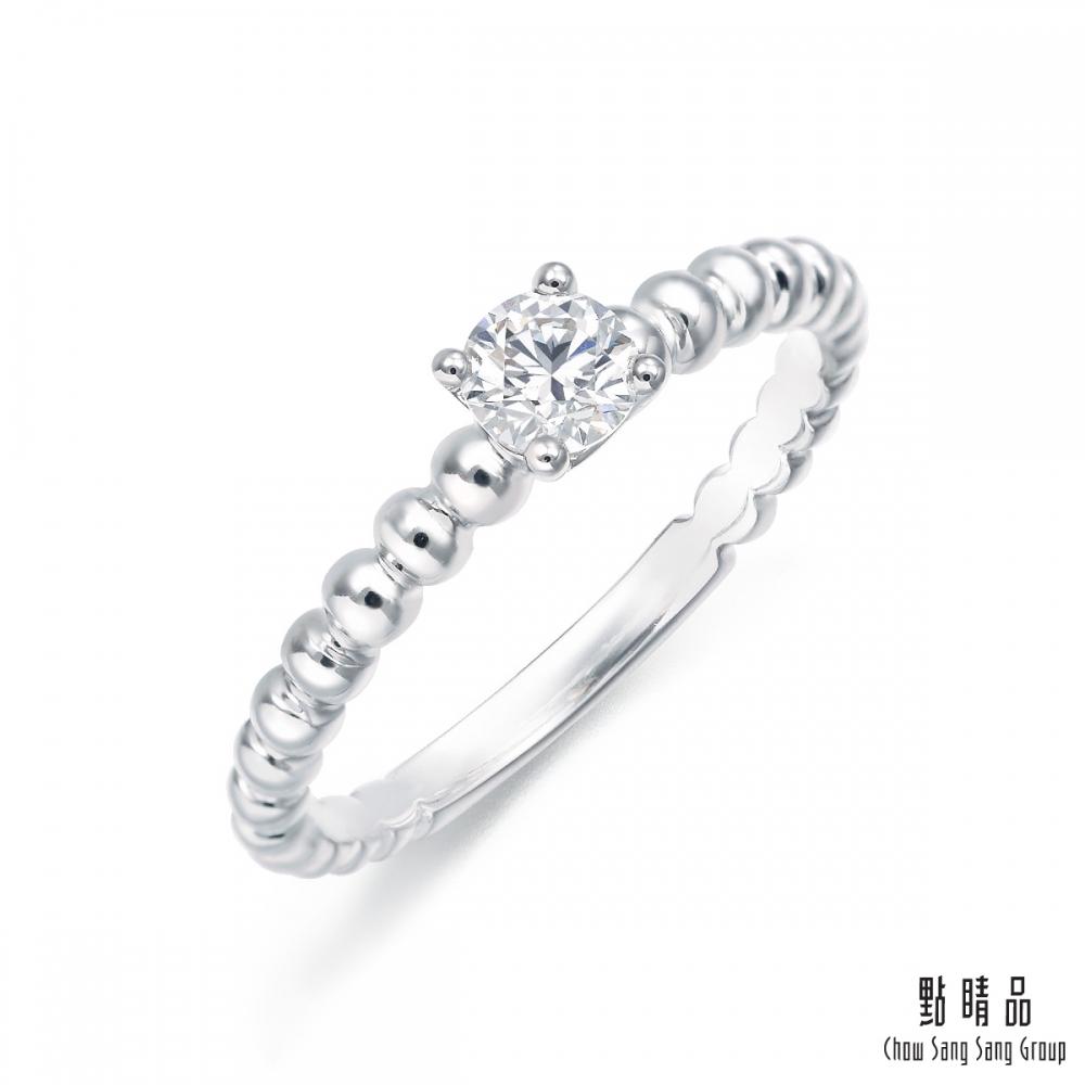 點睛品 Promess 23分 加冕 18K金鑽石戒指
