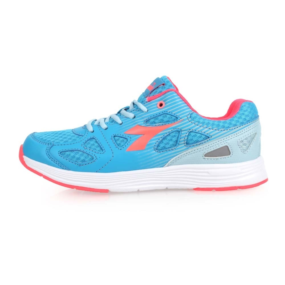 DIADORA 女慢跑鞋-訓練 健身 路跑 反光 水藍粉橘