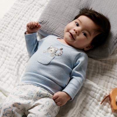 澳洲Purebaby有機棉嬰兒包屁衣-3~18月連身裝