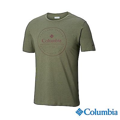 Columbia哥倫比亞 男款-印花T-Shirt-軍綠 UAE07330AG