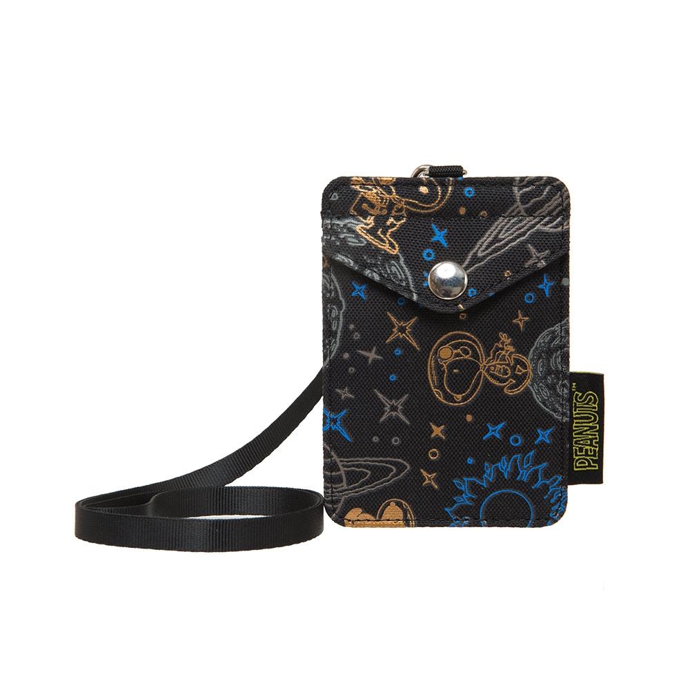 【OUTDOOR】SNOOPY聯名款太空人系列卡片套-黑色 ODP21E20BK