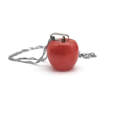 Hera 赫拉 天然草莓晶大蘋果平安項鍊/鎖骨鍊