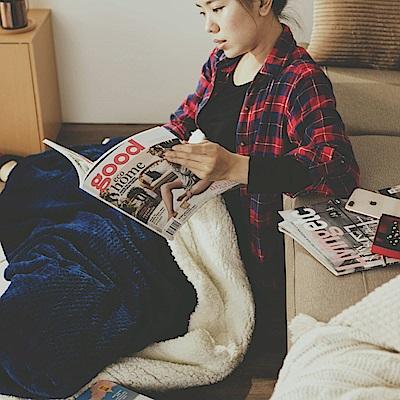 絲薇諾 寶藍 Warm Warm羊羔絨毯/毛毯-150×200cm