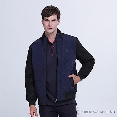 ROBERTA諾貝達 帥氣型男 內裡鋪棉夾克外套 深藍