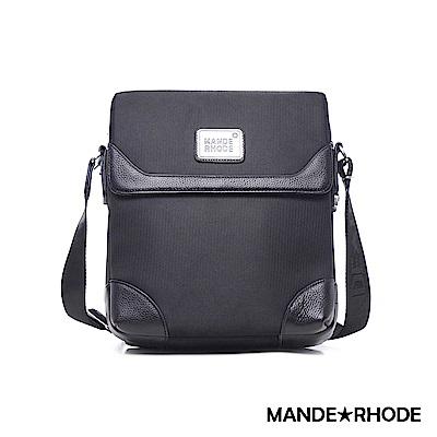 MANDE RHODE - 貝加莫 - 真皮牛津布隨身側背包 - 98806C
