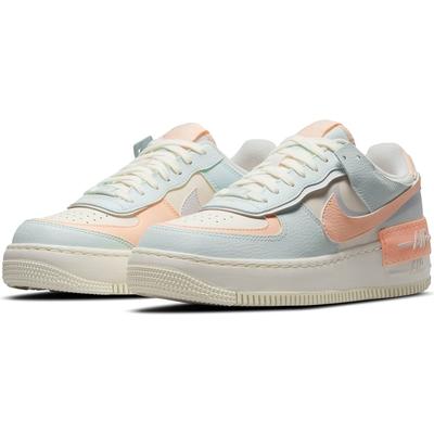NIKE 休閒鞋 運動鞋 AF1 皮革 女鞋 藍粉橘 CU8591-104 W AF1 SHADOW