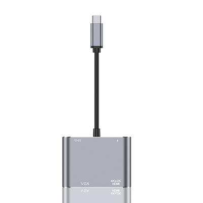 ANTIAN Type-C 四合一多功能HUB轉接器 PD快充 USB3.0集線器 HDMI轉接頭