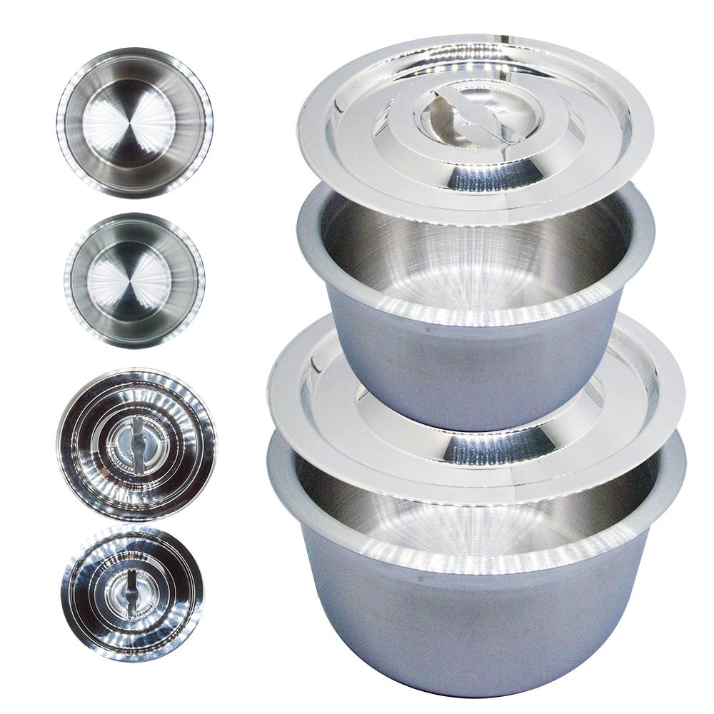 304不鏽鋼雙調理鍋組(20公分及18公分含304不鏽鋼鍋蓋)