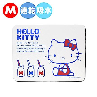 Hello Kitty 珪藻土足乾樂吸水抗菌地墊-M(日本境內版)