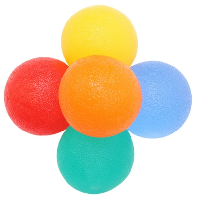 JHS杰恆社abe130口新款減壓矽膠握力器球形矽膠握力球小型康復掌形按摩球發洩球圓形