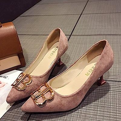KEITH-WILL時尚鞋館 女人最大復古風情細跟鞋-粉色