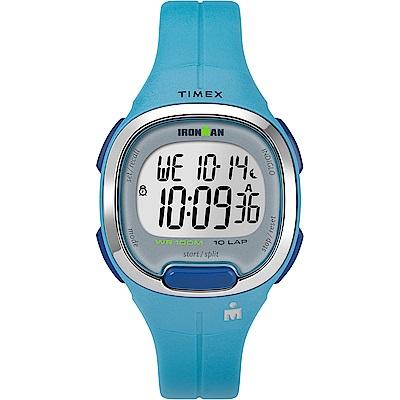 TIMEX 天美時 鐵人系列 專業運動電子錶-藍/33mm