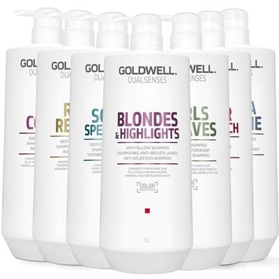 [時時樂限定] GOLDWELL 沙龍級 洗髮精/髮膜 1000ml 任選均一價