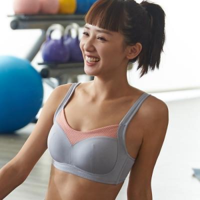 蕾黛絲-LadieSport好運動 Level 1 高脊心無鋼圈 C罩杯內衣 活力粉