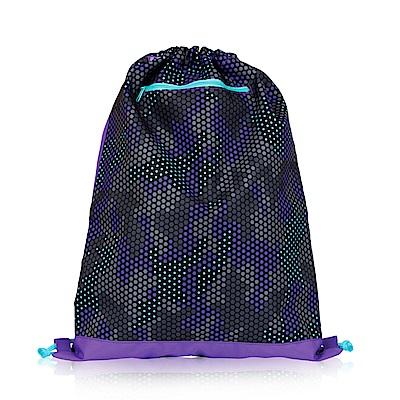 Tiger Family探險家輕巧束口背包-迷彩青紫