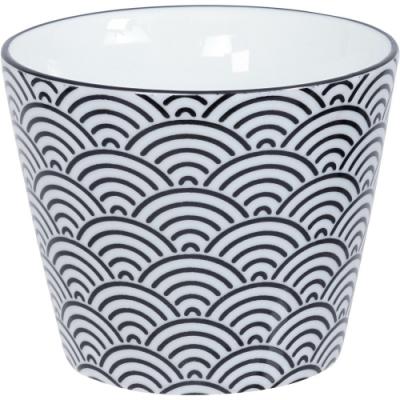 《Tokyo Design》瓷製茶杯(浪紋黑170ml)