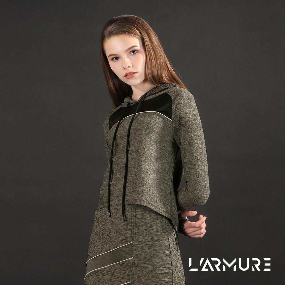 L'ARMURE 女裝 ECO-lor 透視剪接 連帽上衣