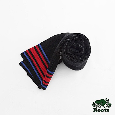 Roots-配件- 雷丘長條圍巾 - 黑色