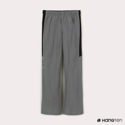Hang Ten-女童-恆溫多功能-REGULAR FIT標準四向彈力吸濕快乾抗曬撞色運動長褲-灰色